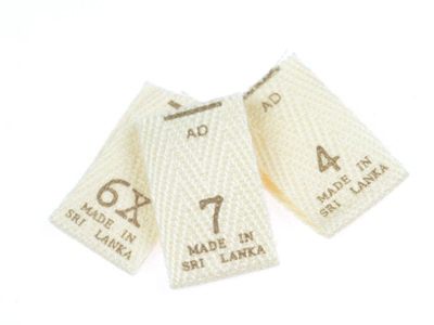Clothing Size Labels