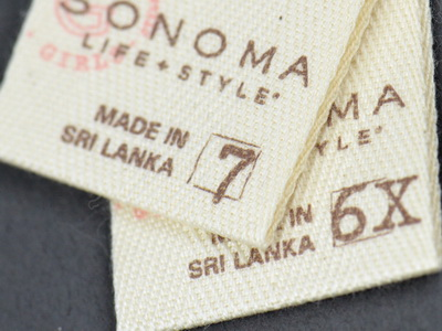 Cotton Size Label